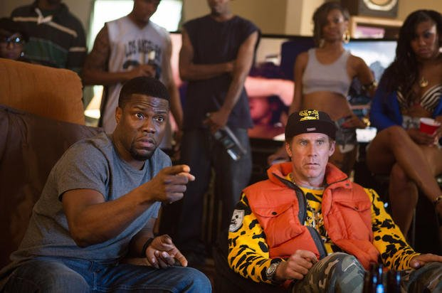 "In this image released by Warner Bros. Entertainment Inc., Kevin Hart, left, and Will Ferrell appear in a scene from ""Get Hard."" (AP Photo/Warner Bros. Entertainment Inc., Patti Perret)"