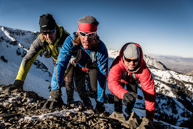 "In this image released by Animal Planet, from left, Matt Galland, Blake Josephson and Danny Bryson appear in a scene from ""100 Miles From Nowhere,"" an extreme travelogue airing Sundays at 10 p.m. ET on Animal Planet. (Animal Planet, Matt Trappe)"