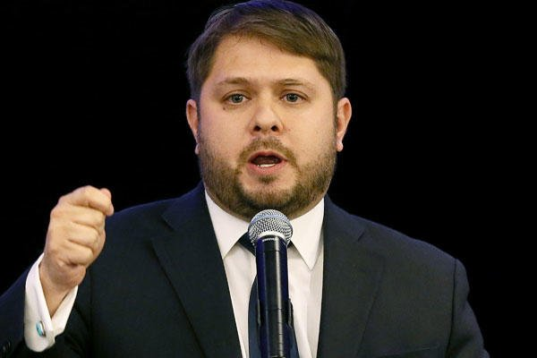 In this Nov. 4, 2014 file photo, Rep.-elect Ruben Gallego speaks in Phoenix. Matt York/AP
