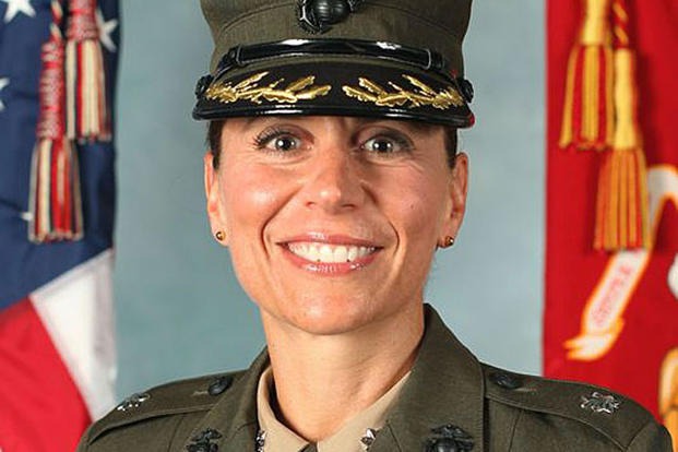 Lt. Col. Kate Germano, ousted commander of Marine female recruit training on Parris Island. DoD photo