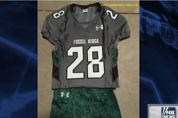 A school district in Colorado denied a high school football team's request to honor the military by wearing the names of fallen service members on the back of their jerseys. (Fox News Image)