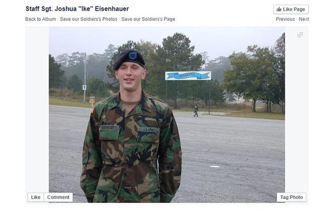 "A photo of Joshua Eisenhauer posted to a group called ""Save our Soldiers."" Screengrab of www.facebook.com/savingjosheisenhauer"