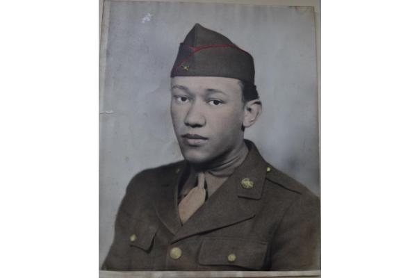 Waverly Woodson's first Army portrait. (Photo courtesy of Joann Woodson via www.lindahervieux.com)