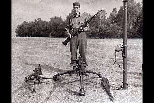 T/Sgt Currey used these weapons while halting a German attack on his company during the Battle of the Bulge. (National Archives)