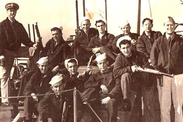 PT-305's first crew included Torpedoman First Class James Nerison, top row, second from left. (Courtesy: The National WWII Museum)