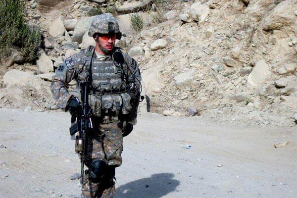 Undated photo of former U.S. Army Staff Sgt. Clinton Romesha on duty in Afghanistan. He received the Medal of Honor for his actions at Combat Outpost Keating in Afghanistan on Oct. 3, 2009. (Photo courtesy of Romesha family)
