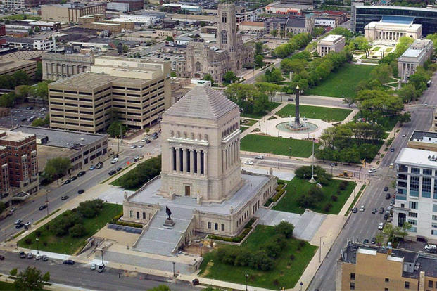 Indiana War Memorial Plaza (Photo: Indiana War Memorials Foundation)