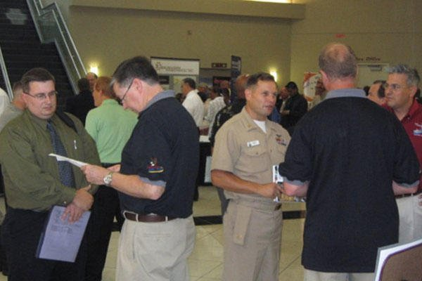 scene at RecruitMilitary career fair