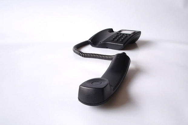 Landline telephone off the hook