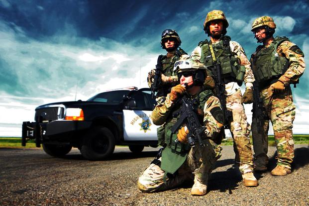 Members of the CHP Swat Team. (State of California photo)