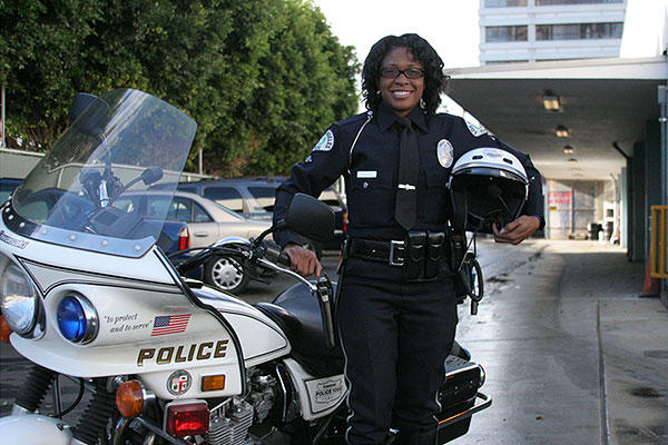 LAPD female police officer (LAPD photo)