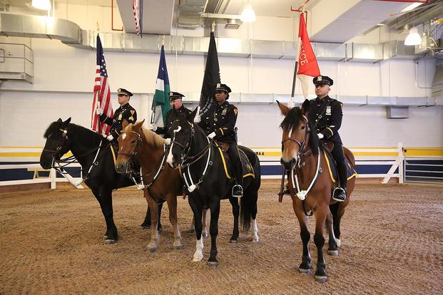NYPD mounted police (NYPD photo)
