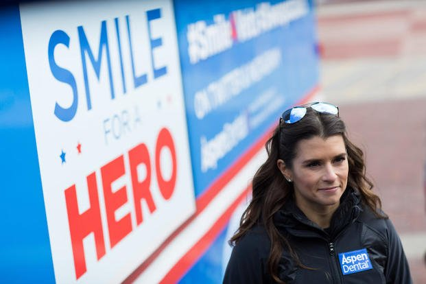 IMAGE DISTRIBUTED FOR ASPEN DENTAL - Danica Patrick, Healthy Mouth Movement ambassador and NASCAR Sprint Cup Series driver, at the Aspen Dental MouthMobile as part of the Healthy Mouth Movement 2016 launch on Thursday, Feb. 25, 2016, in Atlanta. (Branden Camp/AP Images for Aspen Dental)