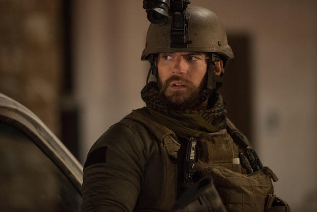 Henry Cavill as Captain Syverson in Sand Castle (photo courtesy Netflix)