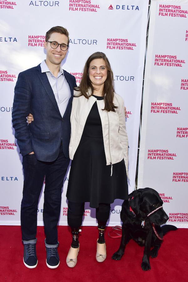 EAST HAMPTON, NY - OCTOBER 07: Boston Marathon Survivors Patrick Downes and Jessica Kensky attend the Marathon: The Patriots Day Bombing Screening during The Hamptons International Film Festival 2016 at UA East Hampton Cinema 6 on October 7, 2016 in East Hampton, New York. (Photo by Eugene Gologursky/Getty Images for Hamptons International Film Festival)