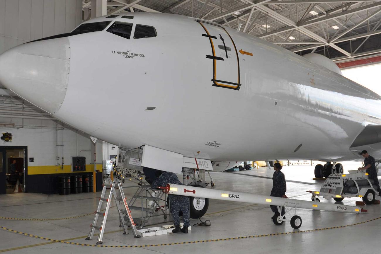 One of Navy's Nuclear War Contingency Aircraft Damaged in Hangar Incident