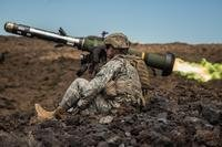 U.S. Army soldiers shoot the Javelin, an anti-tank weapon, at the Pohakuloa Training Area, Hawaii, on July 28, 2016. (U.S. Army photo by Patrick Kirby)