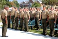 Students and faculty sing the Marines' Hymn during Sergeants Course Class 6-13 graduation ceremony Oct. 4, 2013, at Staff Noncommissioned Officer Academy aboard Marine Corps Base Quantico. (U.S. Marine Corps/Ameesha Felton)