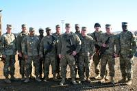 Soldiers from the 310th Multi Role Bridge Company during their battlefield rotation in Iraq