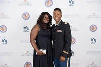 An Army couple attends the 2017 American Military Partner Association (AMPA) gala (Courtesy of the American Military Partner Association)