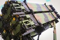 Patriot missile launcher system, part of 1st Battalion, 1st Air Defense Artillery Regiment, during the units table gunnery training exercise on Kadena Air Base in Japan, Oct. 19, 2017. (U.S. Army/Capt. Adan Cazarez)
