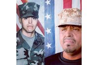 Enrique Salas pictured as a young Marine and later in life. (Facebook photo)