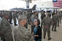 National Guard Meeting Governor