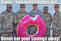 National Donut Day TSP Campaign (DoD/Alison Maruca)