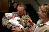 The new Marine Corps family leave policy is retroactive to Dec. 23, 2016, which means that some recent parents may find themselves with more available leave. Also, unmarried parents now qualify for the same leave allowances as married couples. (US Marine Corps photo/Barry Edwards)