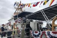 The fast-response Coast Guard cutter Nathan Bruckenthal was commissioned in Alexandria, Virginia, on July 25, 2018. (Military.com/Gina Harkins)