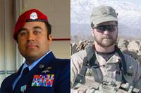 Air Force Master Sgt. Robert Gutierrez (left) and Air Force Tech. Sgt. John Chapman (right) (Air Force Photos)