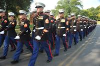 Marine security guards march to a hall in Quantico, Va., following their graduation. The State Department reportedly wants to send a Marine security guard detachment to Taiwan, a move proving unpopular with the Chinese. (Lance Cpl. Antwaun L. Jefferson/Marine Corps)