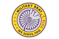 The 2018 Military Brat patch is free for military kids. (Army and Air Force Exchnage Service)
