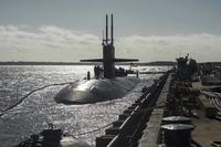The Los Angeles-class attack submarine USS Pittsburgh (SSN 720) arrives at Naval Submarine Base Kings Bay. (U.S. Navy/Mass Communication Specialist 2nd Class Bradley J. Gee)