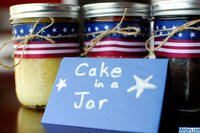 Cake in a jar is a great military care package gift. (Military.com)