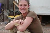 Amie Muller served two tours of duty at Balad Air Base, Iraq in 2005 and 2007, where her husband Brian says she was exposed to the toxic smoke from nearby burn pits. Nearly a decade after her return, Muller was diagnosed with stage III pancreatic cancer and died just nine months later.(Photo courtesy of Brian Muller via Fox News)