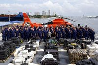 The Coast Guard has seized 18.5 tons of cocaine from 15 drug-smuggling boats off the coasts of Mexico, Central America and South America, with help from other law enforcement agencies. (US Coast Guard photo via Fox News)