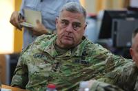 "U.S. Army Chief of Staff Gen. Mark Milley discusses challenges and threats unique to Baghdad during a visit to the Baghdad Operations Center and 3rd Cavalry Regiment ""Brave Rifles"" troopers supporting Operation Inherent Resolve on Aug. 15, 2018. (U.S. Army photo by Spc. Arnada Jones)"