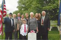 Three generations of the Trescott family gathered April 21, 2017, at Arlington National Cemetery, to commemorate the new gravestone listing the Silver Star for the late Charles R. Trescott, a veteran of the Vietnam War. (Photo courtesy Bill Ivory)