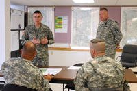 Army reservists in classroom