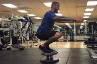 StrongBoard balance board barre squat