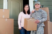 A soldier and his wife during a move.