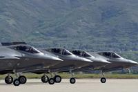 Four F-35 Joint Strike Fighters prepare for takeoff at Hill Air Force Base, Utah, May 4, 2016. (Photo by Paul Holcomb/U.S. Air Force)