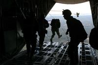 FILE -- Marines with U.S. Marine Corps Forces, Special  Operations Command jump from a C-130 during parachute exercise aboard Camp Lejeune, N.C., Dec. 15, 2010. (U.S. Marine Corps/Lance Cpl. Kyle McNally)