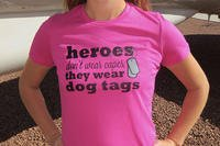 A military spouse shirt from the Military Wives Rock shop on Etsy.