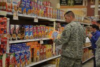 Shoppers at the Fort Drum commissary. Ashley Patoka/Northern Regional Medical Command