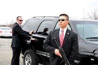 Along with investigating crime within the Army, CID Special Agents provide personal security services, much like the U.S. Secret Service, for key Department of Defense and Department of the Army officials. (U.S. Army photo by Jeffrey Castro, CID PAO)