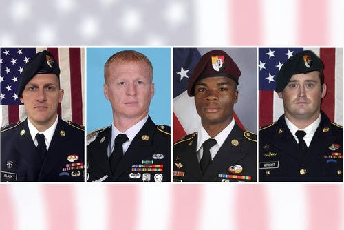 Staff Sgt. Bryan C. Black, Staff Sgt. Jeremiah W. Johnson, Staff Sgt. Dustin M. Wright, and Sgt. La David T. Johnson  (U.S. Army photos)