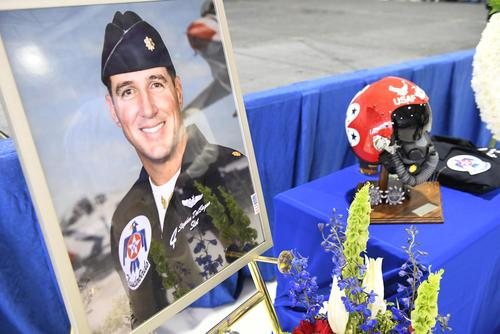 Photo taken at memorial for Maj. Stephen Del Bagno. (Courtesy of Airman 1st Class Andrew Sarver & Mr. Crespo)