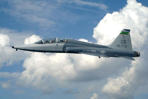 The T-38 Talon is a twin-engine, high-altitude, supersonic jet trainer used in a variety of roles. Air Education and Training Command is the primary user of the T-38C for joint specialized undergraduate pilot training. (U.S. Air Force photo)